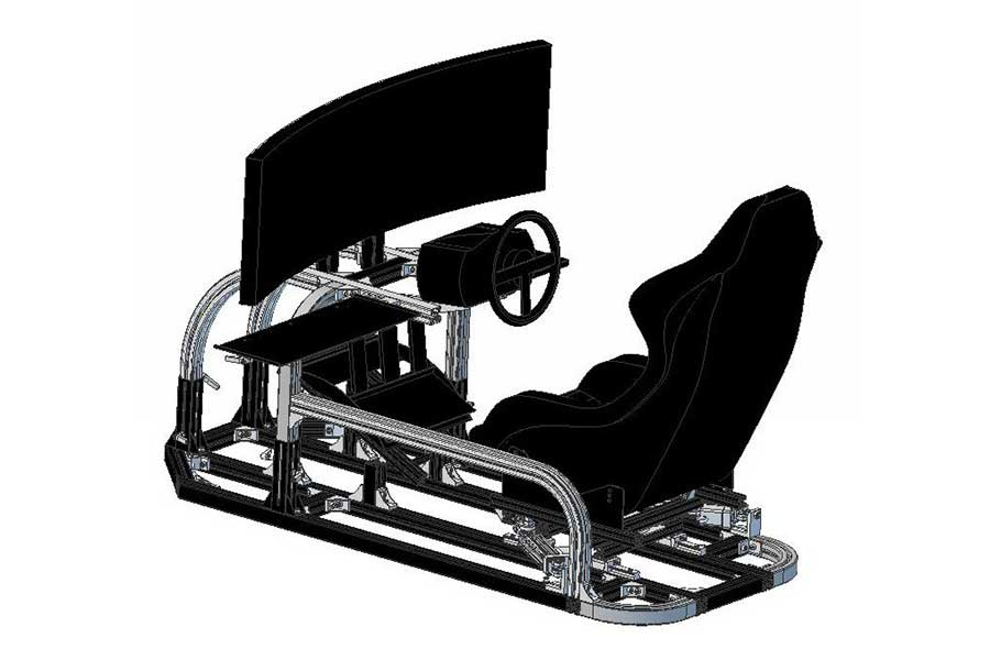 画像:2軸シリンダ制御レーシングシュミレータ
