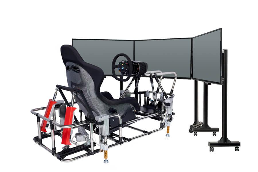 画像:7軸シリンダ制御レーシングシュミレータ|側面