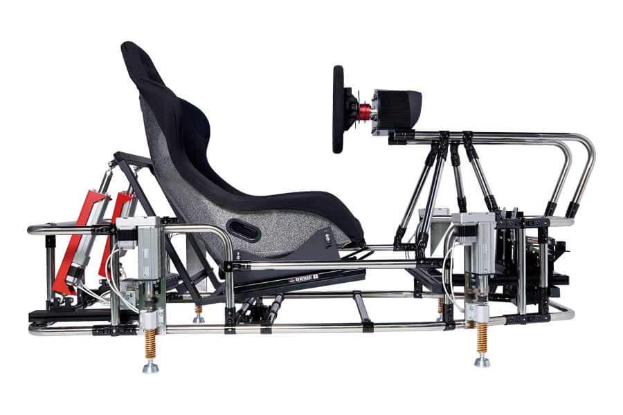 画像:7軸シリンダ制御レーシングシュミレータ|サイド